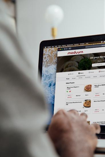 Customer ordering on computer
